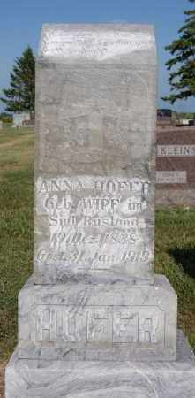 HOFER, ANNA - Hutchinson County, South Dakota | ANNA HOFER - South Dakota Gravestone Photos