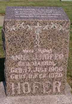 MAENDL HOFER, ANNA J - Hutchinson County, South Dakota | ANNA J MAENDL HOFER - South Dakota Gravestone Photos
