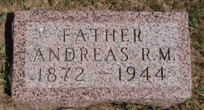 HOFER, ANDREAS R M - Hutchinson County, South Dakota | ANDREAS R M HOFER - South Dakota Gravestone Photos