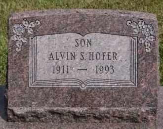 HOFER, ALVIN S - Hutchinson County, South Dakota | ALVIN S HOFER - South Dakota Gravestone Photos