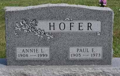 HOFER, ANNIE L - Hutchinson County, South Dakota | ANNIE L HOFER - South Dakota Gravestone Photos