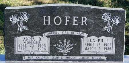 HOFER, JOSEPH L - Hutchinson County, South Dakota | JOSEPH L HOFER - South Dakota Gravestone Photos