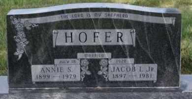 HOFER, JACOB L JR - Hutchinson County, South Dakota   JACOB L JR HOFER - South Dakota Gravestone Photos