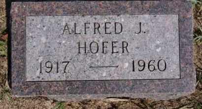HOFER, ALFRED J - Hutchinson County, South Dakota | ALFRED J HOFER - South Dakota Gravestone Photos
