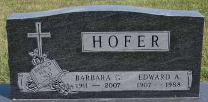 HOFER, BARBARA G - Hutchinson County, South Dakota | BARBARA G HOFER - South Dakota Gravestone Photos