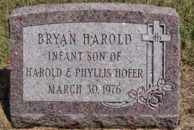 HOFER, BRYAN HAROLD - Hutchinson County, South Dakota   BRYAN HAROLD HOFER - South Dakota Gravestone Photos