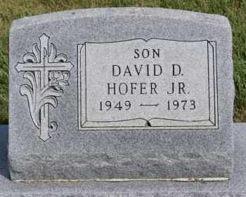 HOFER, DAVID D JR - Hutchinson County, South Dakota | DAVID D JR HOFER - South Dakota Gravestone Photos