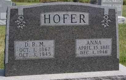 HOFER, ANNA - Hutchinson County, South Dakota   ANNA HOFER - South Dakota Gravestone Photos
