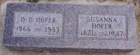 HOFER, SUSANNA - Hutchinson County, South Dakota | SUSANNA HOFER - South Dakota Gravestone Photos