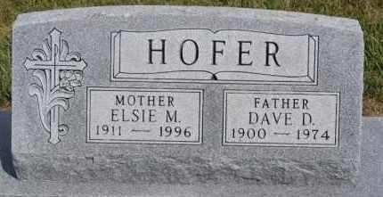 HOFER, ELSIE M - Hutchinson County, South Dakota | ELSIE M HOFER - South Dakota Gravestone Photos