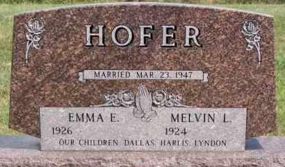 HOFER, EMMA E - Hutchinson County, South Dakota | EMMA E HOFER - South Dakota Gravestone Photos