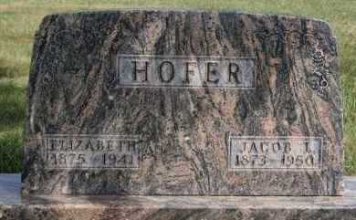 HOFER, ELIZABETH - Hutchinson County, South Dakota | ELIZABETH HOFER - South Dakota Gravestone Photos