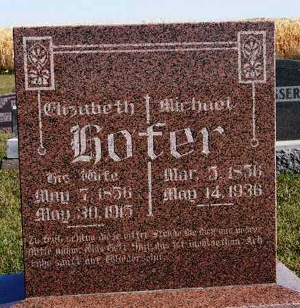 HOFER, MICHAEL - Hutchinson County, South Dakota | MICHAEL HOFER - South Dakota Gravestone Photos