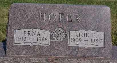 HOFER, JOE E - Hutchinson County, South Dakota | JOE E HOFER - South Dakota Gravestone Photos