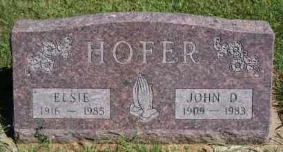 HOFER, ELSIE - Hutchinson County, South Dakota | ELSIE HOFER - South Dakota Gravestone Photos