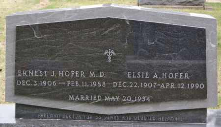 HOFER, ERNEST J - Hutchinson County, South Dakota | ERNEST J HOFER - South Dakota Gravestone Photos