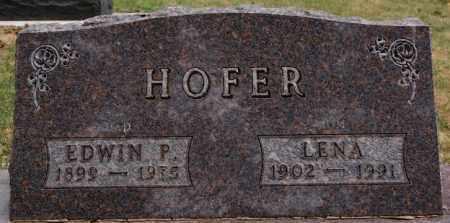HOFER, LENA - Hutchinson County, South Dakota | LENA HOFER - South Dakota Gravestone Photos