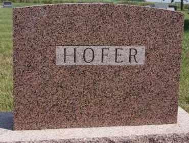 HOFER, FAMILY PLOT MARKER - Hutchinson County, South Dakota | FAMILY PLOT MARKER HOFER - South Dakota Gravestone Photos
