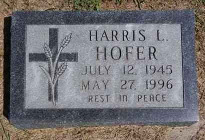 HOFER, HARRIS L - Hutchinson County, South Dakota | HARRIS L HOFER - South Dakota Gravestone Photos