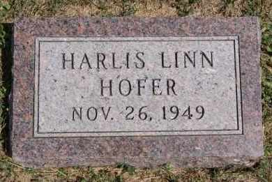HOFER, HARLIS LINN - Hutchinson County, South Dakota | HARLIS LINN HOFER - South Dakota Gravestone Photos