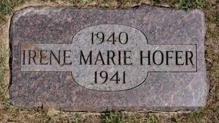 HOFER, IRENE MARIE - Hutchinson County, South Dakota | IRENE MARIE HOFER - South Dakota Gravestone Photos