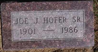 HOFER, JOE J SR - Hutchinson County, South Dakota | JOE J SR HOFER - South Dakota Gravestone Photos