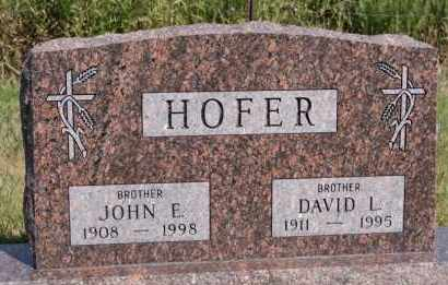 HOFER, DAVID L - Hutchinson County, South Dakota | DAVID L HOFER - South Dakota Gravestone Photos