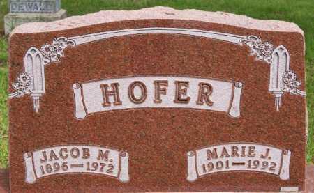 HOFER, JACOB M - Hutchinson County, South Dakota | JACOB M HOFER - South Dakota Gravestone Photos