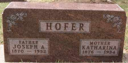 HOFER, KATHARINA - Hutchinson County, South Dakota | KATHARINA HOFER - South Dakota Gravestone Photos