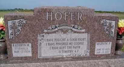HOFER, KATHRYN M - Hutchinson County, South Dakota | KATHRYN M HOFER - South Dakota Gravestone Photos