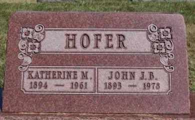 HOFER, KATHERINE M - Hutchinson County, South Dakota | KATHERINE M HOFER - South Dakota Gravestone Photos
