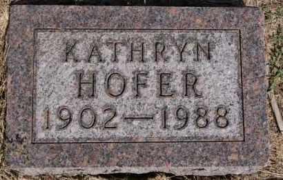 HOFER, KATHRYN - Hutchinson County, South Dakota | KATHRYN HOFER - South Dakota Gravestone Photos