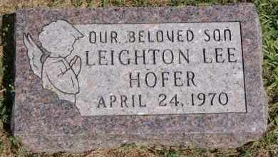 HOFER, LEIGHTON LEE - Hutchinson County, South Dakota | LEIGHTON LEE HOFER - South Dakota Gravestone Photos