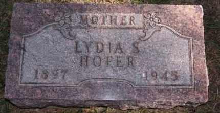 HOFER, LYDIA S - Hutchinson County, South Dakota | LYDIA S HOFER - South Dakota Gravestone Photos