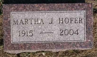 HOFER, MARTHA J - Hutchinson County, South Dakota   MARTHA J HOFER - South Dakota Gravestone Photos