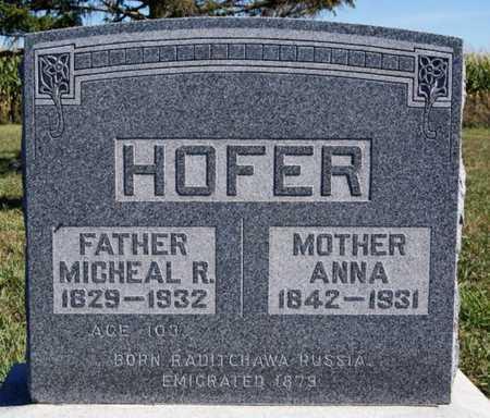 HOFER, MICHAEL R - Hutchinson County, South Dakota | MICHAEL R HOFER - South Dakota Gravestone Photos