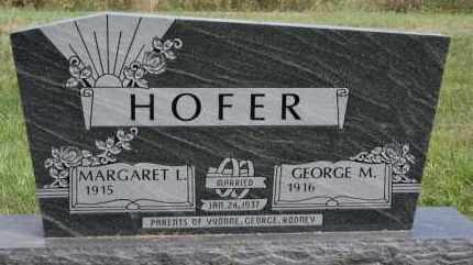 HOFER, MARGARET L - Hutchinson County, South Dakota | MARGARET L HOFER - South Dakota Gravestone Photos