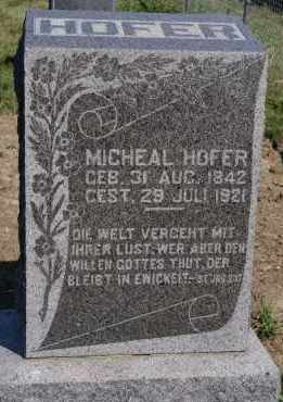 HOFER, MICHEAL - Hutchinson County, South Dakota | MICHEAL HOFER - South Dakota Gravestone Photos