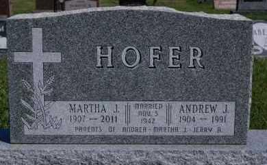 HOFER, MARTHA J - Hutchinson County, South Dakota | MARTHA J HOFER - South Dakota Gravestone Photos