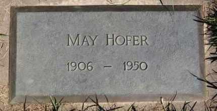 HOFER, MAY - Hutchinson County, South Dakota | MAY HOFER - South Dakota Gravestone Photos