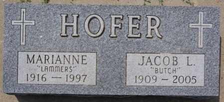 HOFER, JACOB L - Hutchinson County, South Dakota | JACOB L HOFER - South Dakota Gravestone Photos