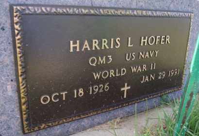 HOFER, HARRIS L (WWII) - Hutchinson County, South Dakota | HARRIS L (WWII) HOFER - South Dakota Gravestone Photos