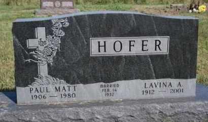 HOFER, PAUL MATT - Hutchinson County, South Dakota | PAUL MATT HOFER - South Dakota Gravestone Photos