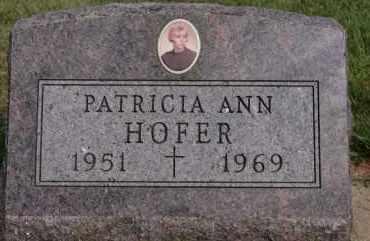 HOFER, PATRICIA ANN - Hutchinson County, South Dakota | PATRICIA ANN HOFER - South Dakota Gravestone Photos
