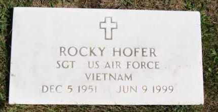 HOFER, ROCKY - Hutchinson County, South Dakota   ROCKY HOFER - South Dakota Gravestone Photos
