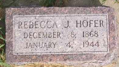 HOFER, REBECCA J - Hutchinson County, South Dakota   REBECCA J HOFER - South Dakota Gravestone Photos