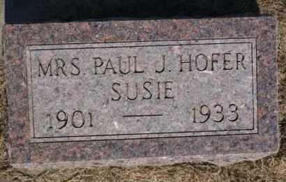 HOFER, SUSIE - Hutchinson County, South Dakota | SUSIE HOFER - South Dakota Gravestone Photos