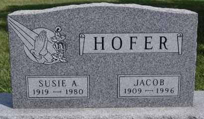 HOFER, JACOB - Hutchinson County, South Dakota | JACOB HOFER - South Dakota Gravestone Photos