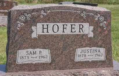 HOFER, JUSTINA - Hutchinson County, South Dakota | JUSTINA HOFER - South Dakota Gravestone Photos
