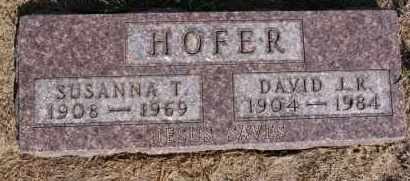 HOFER, SUSANNA T - Hutchinson County, South Dakota | SUSANNA T HOFER - South Dakota Gravestone Photos